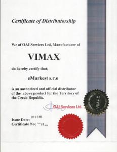 Vimax - Certifikát kvality